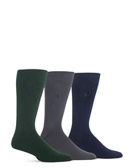 Polo Ralph Lauren - Super Soft Flat Knit Socks - Pack of 3