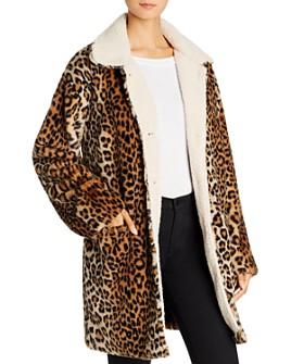 Sanctuary - Sierra Faux-Fur Leopard-Print Coat