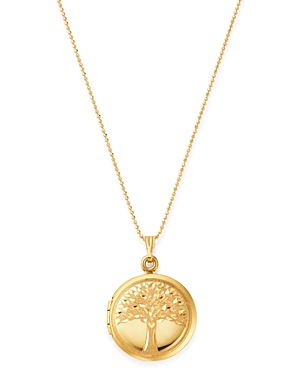 Bloomingdale's Tree of Birds Locket Necklace in 14K Yellow Gold, 22 - 100% Exclusive