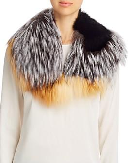 Maximilian Furs - Patchwork Fox Fur Collar