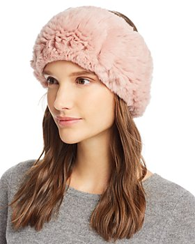 Maximilian Furs - Knit Rex Rabbit Fur Headband