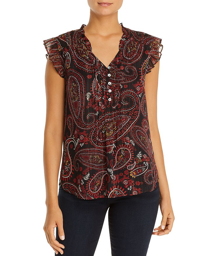 Daniel Rainn - Sleeveless Paisley-Print Top