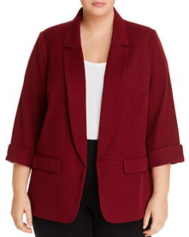 Daniel Rainn Plus - Open-Front Blazer
