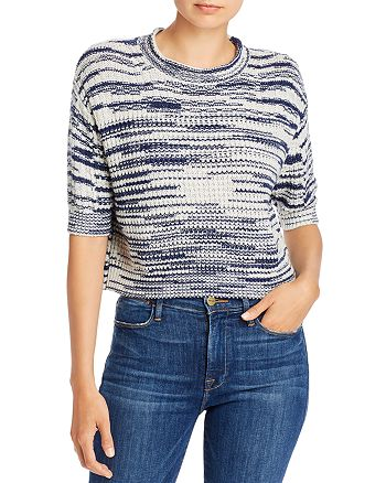 See by Chloé - Marled Knit Cropped Pullover Sweater