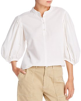 See by Chloé - Balloon-Sleeve Pinstriped Blouse