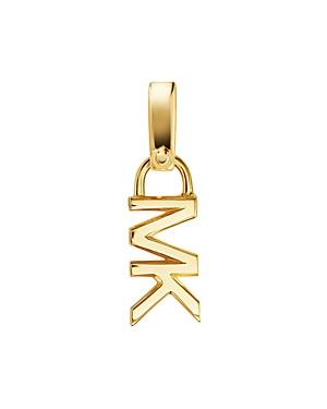Michael Kors Mott Mk Logo Charm in 14K Gold-Plated Sterling Silver