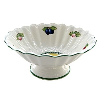 "Villeroy & Boch - ""French Garden"" Footed Fruit Bowl"