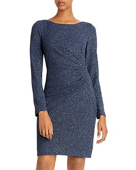 Eliza J - Ruched Glitter Dress