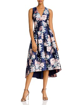 Eliza J - Floral Jacquard High/Low Dress