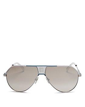 Givenchy - Unisex Brow Bar Aviator Sunglasses, 61mm