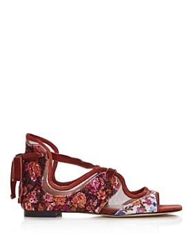 COACH - x Tabitha Simmons Women's Liza Velvet Sandals