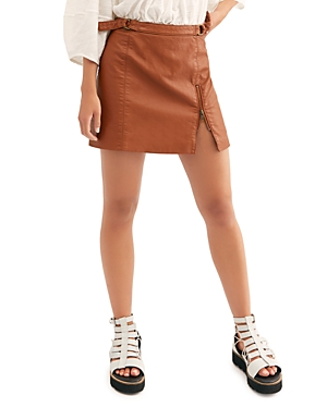 Free People Midnight Magic Faux Leather Mini Skirt