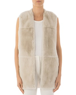 Peserico - Real Rabbit Fur & Knit-Back Vest