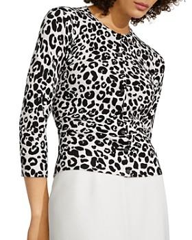KAREN MILLEN - Soft Leopard Knit Cardigan
