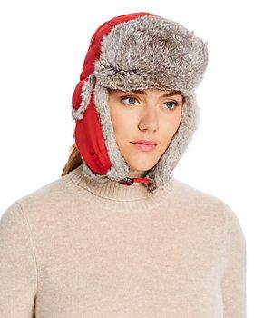 Crown Cap - Rabbit-Fur Trim Aviator Hat