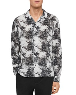 ALLSAINTS - Amagi Tiger Print Slim Fit Button-Down Shirt
