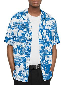 ALLSAINTS - Awa Hawaiian Print Regular Fit Button-Down Shirt