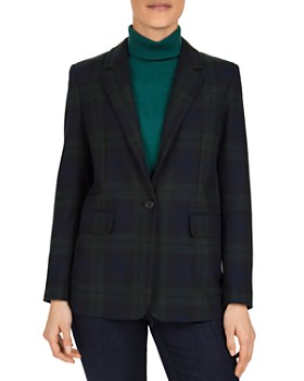 Gerard Darel - Valentina Plaid Single-Button Blazer