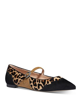 COACH - x Tabitha Simmons Women's Harriette Leopard-Print Mary Jane Flats