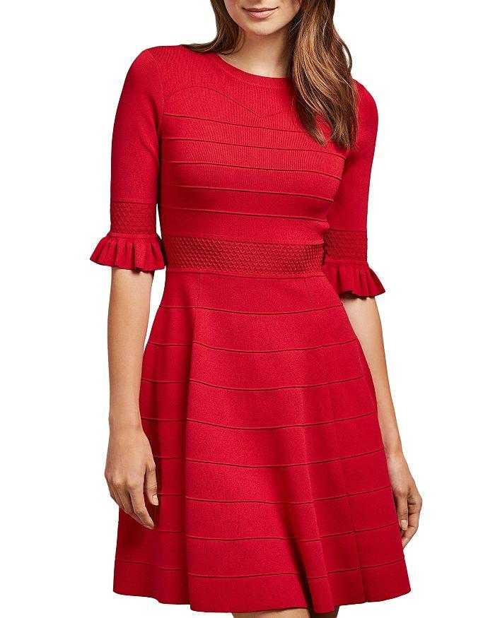 Ted Baker - Dyana Sweetheart Bodice Knit Mini Dress