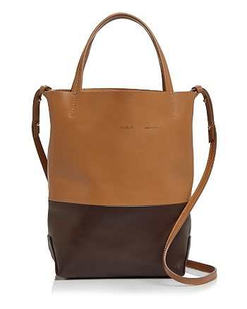 Alice.D - Small Color-Block Leather Tote