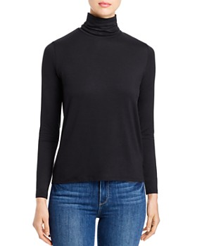 Majestic Filatures - Ruched Mock-Neck Tee