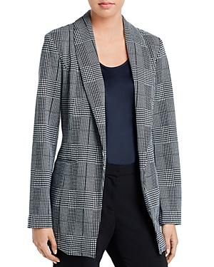 Bagatelle Plaid Shawl-Collar Blazer