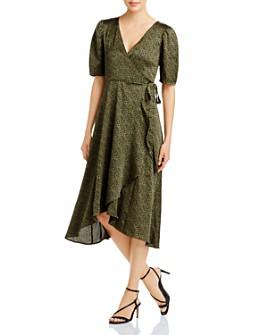 B Collection by Bobeau - Lumi Leopard-Print Midi Wrap Dress