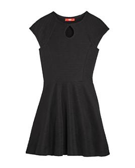 AQUA - Girls' Textured Keyhole Dress, Big Kid - 100% Exclusive