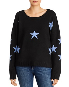 Theo & Spence - Oversized Star-Print Sweater