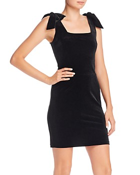 AQUA - Velvet Bow-Detail Mini Dress - 100% Exclusive
