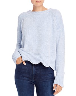 AQUA - Scalloped Chenille Sweater - 100% Exclusive