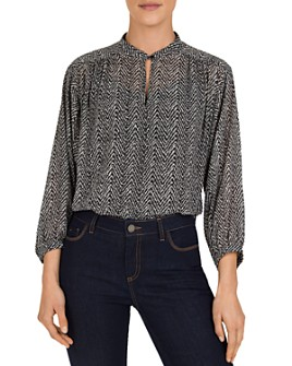 Gerard Darel - Milo Abstract Herringbone-Print Top