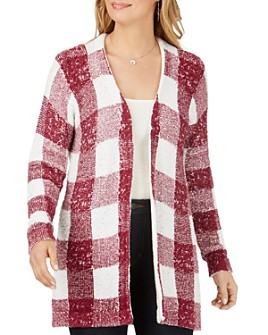 Foxcroft - The Bardot Buffalo Plaid Cardigan