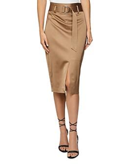 REISS - Bryn Belted Pencil Skirt
