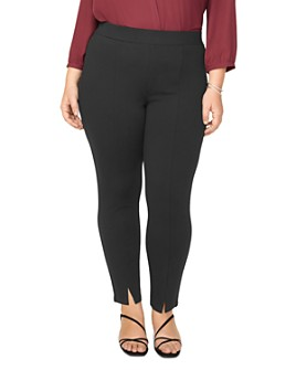 NYDJ Plus - Ponte Knit Front-Slit Leggings