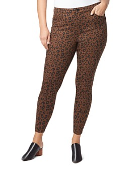 Sanctuary Curve - Social Standard Skinny Ankle Jeans in Leopard