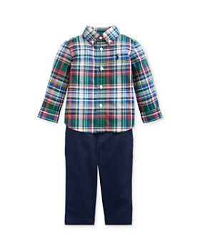 Ralph Lauren - Boys' Plaid Shirt & Chino Pants Set - Baby