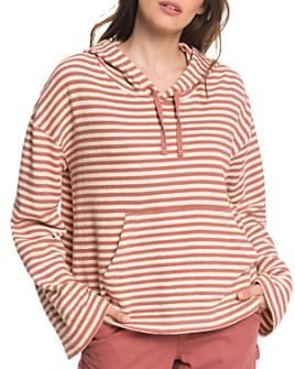 Roxy - Get Casual Striped Hooded Sweatshirt
