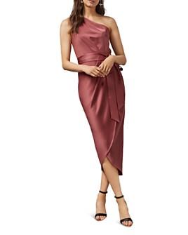 Ted Baker - Gabie One-Shoulder Draped Midi Dress