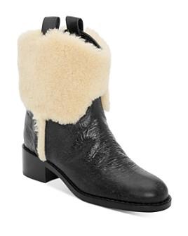 Laurence Dacade - Women's Shearling Western Boots