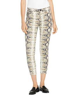 Hudson - Barbara High-Rise Ankle Skinny Jeans in Python