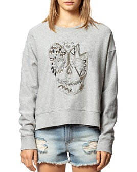 Zadig & Voltaire - Champ Embroidered Skull Sweatshirt