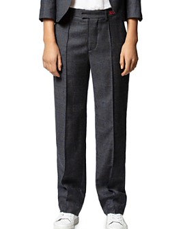 Zadig & Voltaire - Peter Carreaux Wool-Blend Embroidered Pants