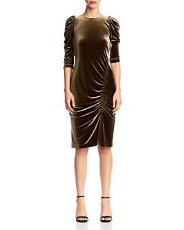 Bailey 44 - Lily Puff-Sleeve Velvet Dress