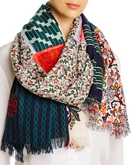 Tory Burch - Multipatch Oblong Wool Scarf