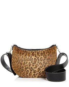VASIC - Faux Fur Leopard-Print Shoulder Bag