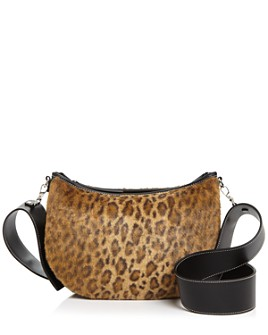 VASIC - Faux Fur Leopard-Print Shoulder Bag