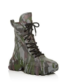 Miu Miu - Women's Calzature Camo-Print Platform Combat Boots