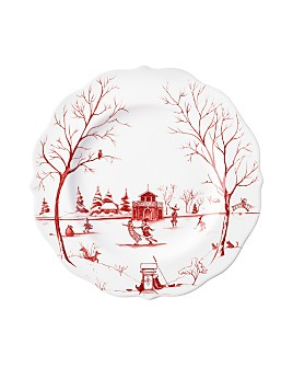 "Juliska - Country Estate Winter Frolic ""The Claus Christmas Day"" Dessert/Salad Plate"
